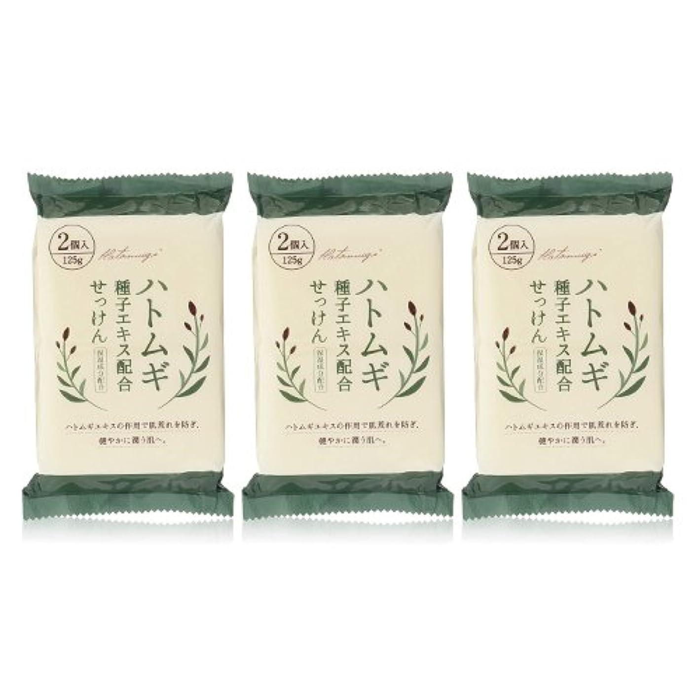 お気に入り可能にする幻想ハトムギ種子エキス配合石けん 125g(2コ入)×3個セット(計6個)