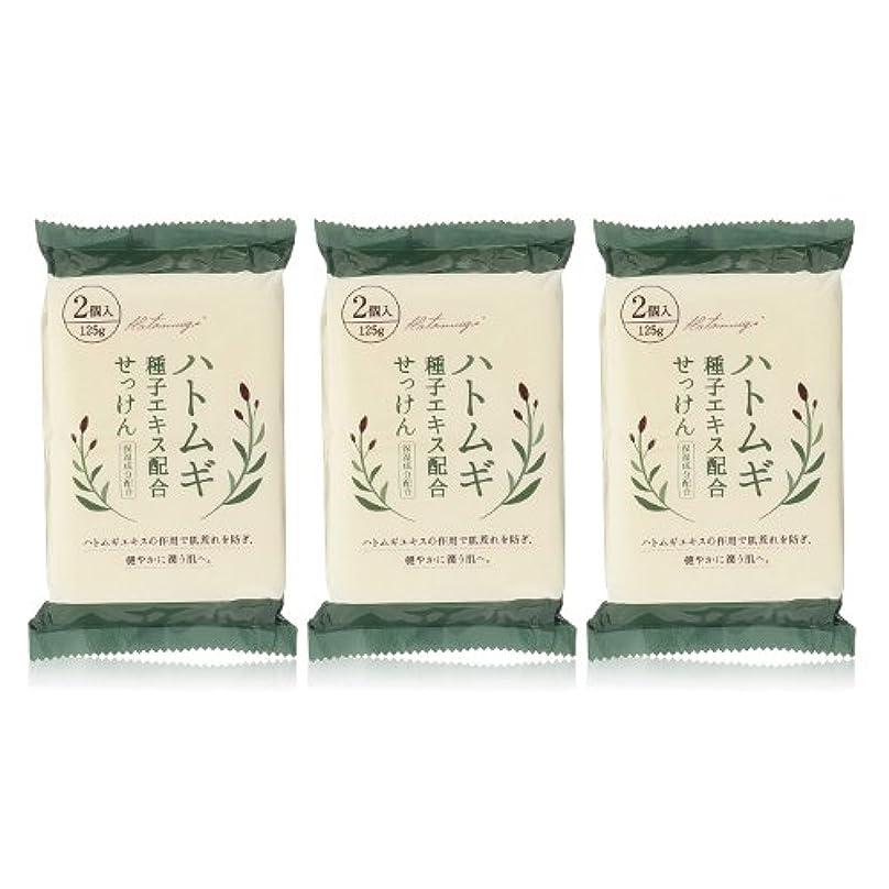 ゆり安らぎ増幅器ハトムギ種子エキス配合石けん 125g(2コ入)×3個セット(計6個)