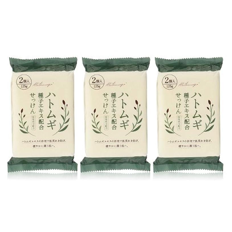 パイルロデオ側面ハトムギ種子エキス配合石けん 125g(2コ入)×3個セット(計6個)