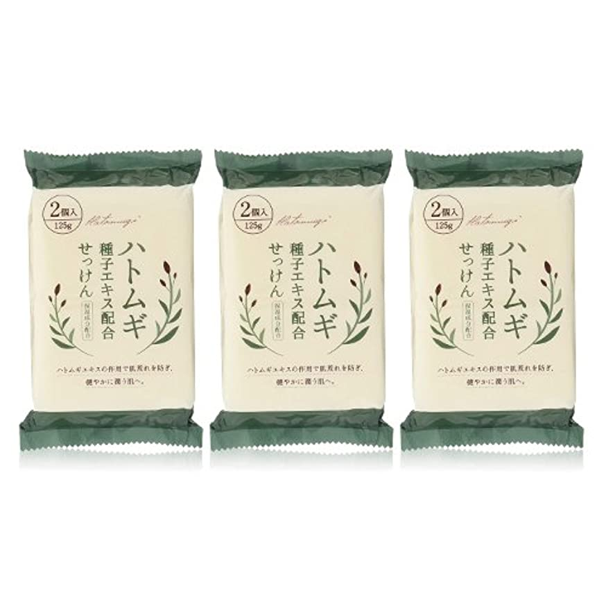 梨ずっと日付ハトムギ種子エキス配合石けん 125g(2コ入)×3個セット(計6個)