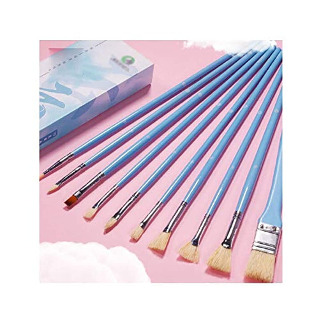 舗装見つける貧困Kaiyitong001 ペイントブラシ、10パックの水シリーズ/水彩/油絵の特別なブラシセット、安定した格納式ファインポリッシングペイントアートスペシャル(10、スタイル1 /スタイル2) 豊かな線を描く (Color : Style 2, Size : 10 pieces)