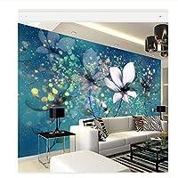 caomei 5 D papel壁画壁紙青い夢のような花の壁画3dプリント大きな壁の壁画壁画用テレビ寝室3Dフォト壁画@ 3