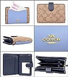[コーチ] COACH 財布 (二つ折り財布) F27147 カーキ×ミッドナイトプール IMN2N レザー 二つ折り財布 レディース [アウトレット品] [並行輸入品]