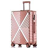 ボンイージ(bonyage) スーツケース ファスナー式 超軽量 TSAロック付 8輪 多段階調節 機内持込 旅行出張 1年保証 ローズゴールド rose gold Sサイズ 約37L