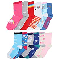 Angelina Girls Kids Assorted Designs Crew Socks (12-Pack)
