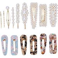 TOOGOO Fashion Hair Clips Set, 15 Pcs Artificial Pearl Hair Clips Hair Pins Hair Barrettes Decorative Gold Bobby Pins For Women And Ladies Headwear Styling Tools