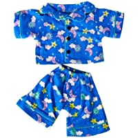 Sunny Days Blue Pj's Teddy Bear Clothes Outfit Fits Most 14 - 18 Build-A-Bear, Vermont Teddy Bears, and Make Your Own Stuffed Animals by Stuffems Toy Shop