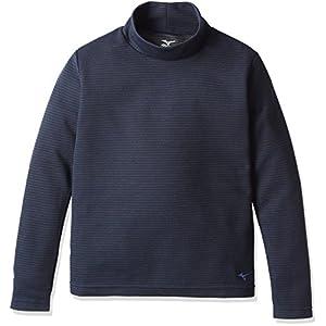 (ミズノ)MIZUNO アウトドアウエア ブレスサーモ ミニボーダーハイネックシャツ J [ジュニア] A2JA6921 14 ドレスネイビー 130