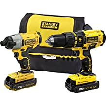 STANLEY FATMAX FMCK466D2-XE 18V Hammer Drill and Impact Driver Combo Kit