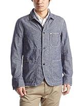 Cotton Linen Work Jacket 3225-186-1462: Navy