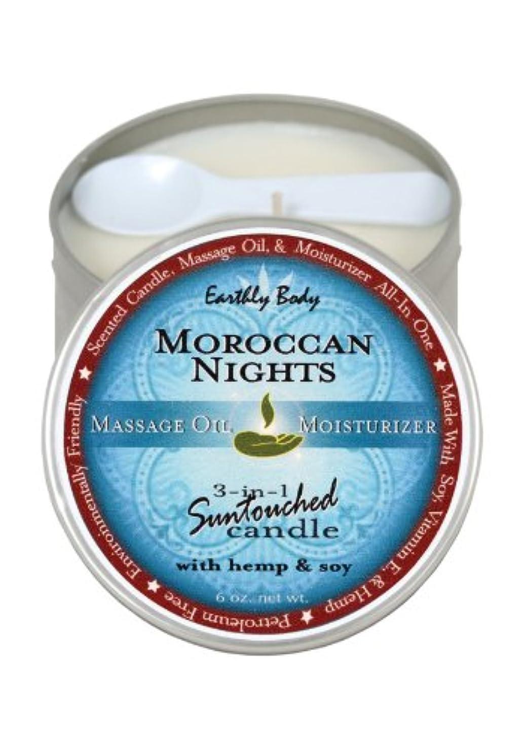 爆風生理思い出Candle 3 N 1 Moroccan Nights 6 Oz by Earthly Body