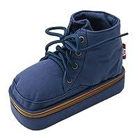 靴型 ペンケース 筆たて リアル 2way 大容量 ズック 色違い (ダークブルー)