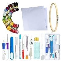 マジック刺繍ペンパンチ針、刺繍ペンセット刺繍ステッチパンチペンセットクラフトツール用刺繍投手diy縫製