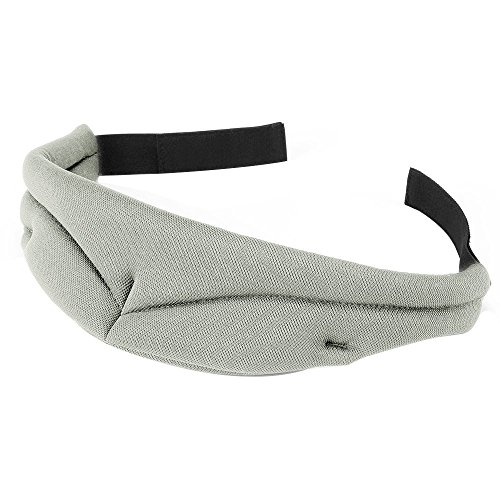 PLEMO 立体型睡眠アイマスク 形状記憶 男女兼用 超ソフト素材 睡眠 旅行に最適 (浅いグレー)