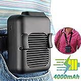 腰ベルトファン 腰掛け扇風機 爽快ジェットファン USB充電式 風量3段階調節可能 クリップ型 4000mAh大容量バッテリー 熱中症対策 ミニ 旅行/アウトドア/作業服などに適用
