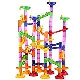 TOPINCN 105pcsセット トラックビルディング玩具 マーブルレースデラックス DIY建造物 子供のおもちゃのゲーム DIYのトラックボール マーブルビルディング ブロックゲーム お祝い プレゼント ギフト 積み木 くるくる ラトルタワー 知育玩具