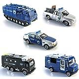 UU TOY ミニカー 5台セット パトロールカー パトカー 警察 おもちゃ モデルカー 合金製 車 コレクション 男の子 おもちゃ