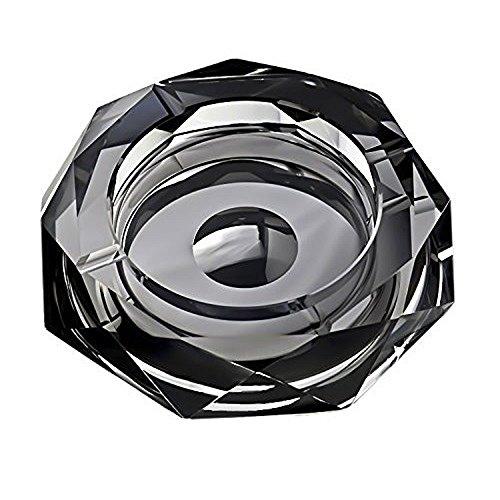 (ロータスライフ) LOTUS LIFE K9クリスタル製 灰皿 おしゃれ な空間演出に Diamond Cut (ブラック)