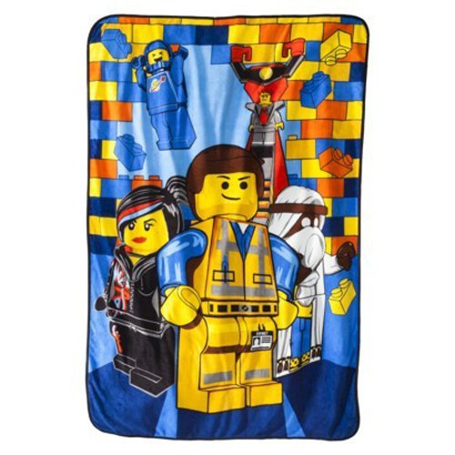 The Lego Movie Emmet Plush Blanket, Twin Size [並行輸入品]