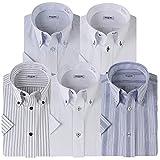 (アトリエサンロクゴ) atelier365 半袖 ワイシャツ 5枚セット 形態安定 ビジネス クールビズ/sa02-3L-45-SA02-Bset-SS-17