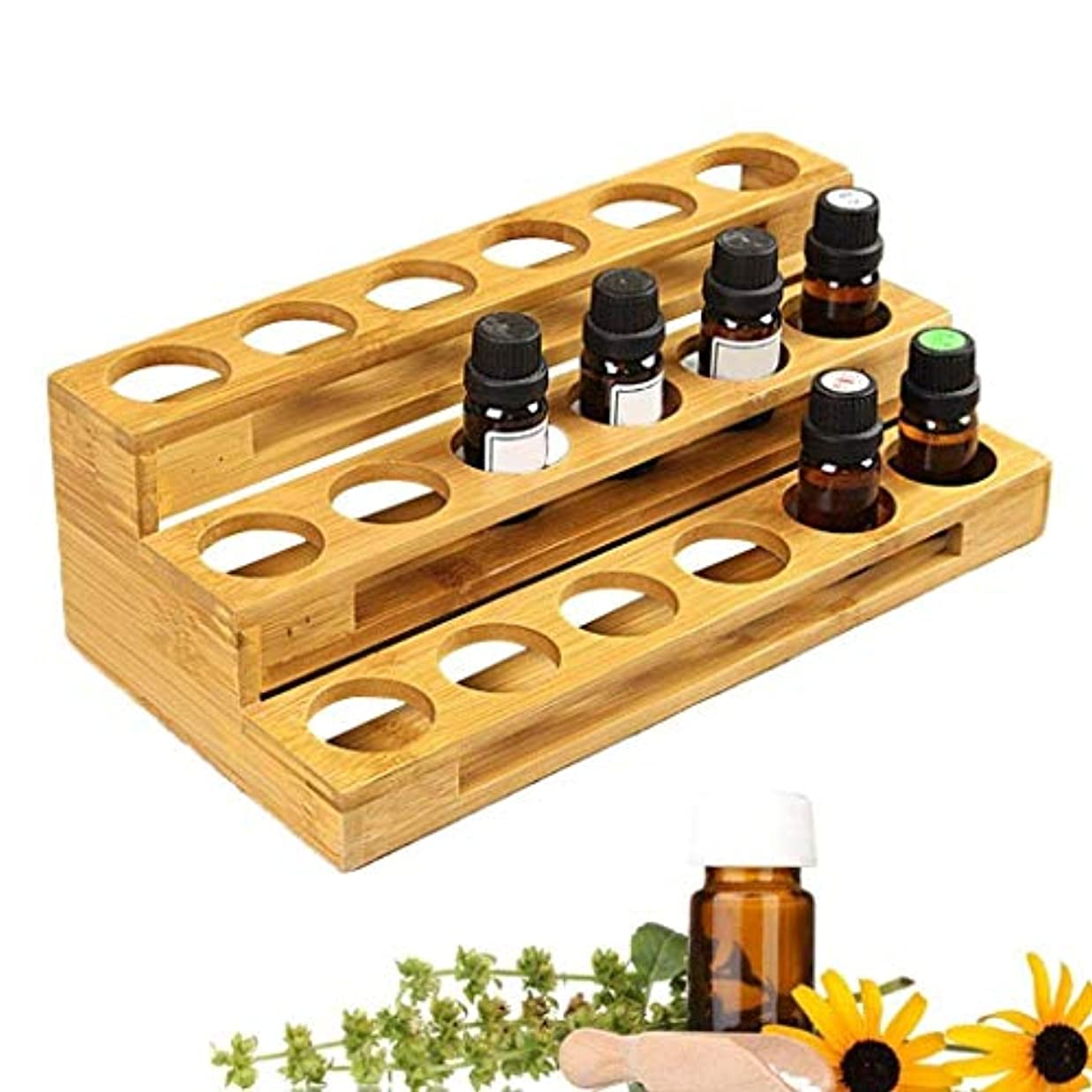 MercuryGo エッセンシャルオイル ケース 精油ケース 和風 木製 エッセンシャルオイル 香水収納 収納ボックス 回転式 大容量 コンパクト
