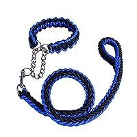 XUTXCKA 大きい犬のための編みこみの犬の鎖ロープの歩行の訓練のペット犬のつばの鎖