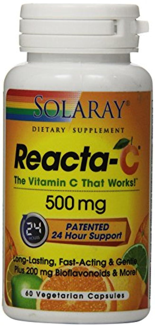 リアクタC 500mg + バイオフラボノイド 60粒(タイムリリース型無酸ビタミンC)[海外直送品]