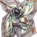 シルクスカーフ 日本製スカーフ レディーススカーフ スカーフ大判 8083 3色あり (グレー)