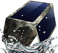 ポータブル折りたたみ式ソーラーパネル充電器、21WデュアルUSB 2.4A高速ソーラー充電器、屋外用ソーラーフォン充電器、キャンプ、緊急など (21W)