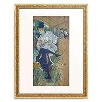 アンリ・ド・トゥールーズ=ロートレック Henri Marie Raymond de Toulouse-Lautrec-Monfa 「Jane Avril tanzend. 1891.」 額装アート作品