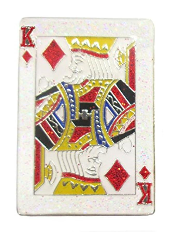 ストレッチ桁教科書King Playingカードキラキラボールマーカーwithデザイン磁気帽子クリップ