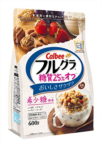 カルビー フルグラ 糖質オフ 25% 600g×6袋