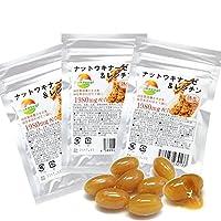納豆サプリメント 30粒 超熟生ナットウキナーゼ&レシチン 3袋セット 計90粒