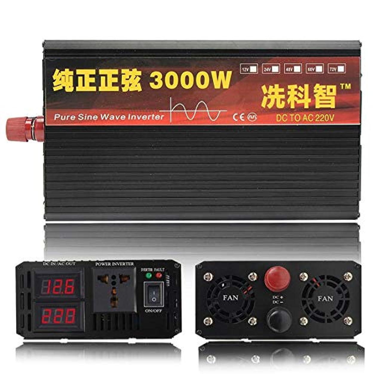 菊不安ケントインバーター12V 220V 2000/3000 / 4000W変圧器純粋な正弦波力インバーターDC12VからAC 220Vコンバーター+ 2 LEDディスプレイ