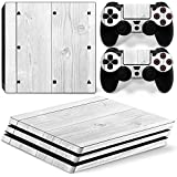 Gam3Gear Vinyl Decal Protective Skin Cover Sticker for PS4 Pro Console & Controller - Wood v3