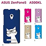 ASUS ZenFone 5 ZenFone5 (ねこ09) A [C021601_01] 猫 にゃんこ ネコ ねこ柄 メガネ SIMフリー スマホ ケース ASUS