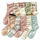 (コナミヤ) Konamiya ガールズ 靴下 クルー丈ソックス 10足セット 女の子 カラフルソックス 花 15-19cm 並行輸入品