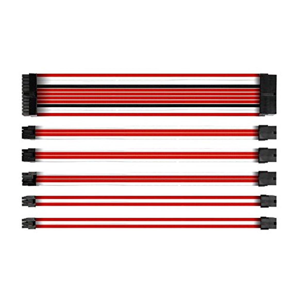 独立して思慮深い経済Antec Mod スリーブ 電源ケーブル 延長キット ATX/EPS 8ピン PCI-E/6ピン コーム付き 300mm AMGPSUSC30-301