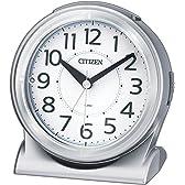 CITIZEN ( シチズン ) 目覚まし 時計 サイレントミグR645 暗所 自動 点灯 シルバー 8RE645-019