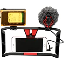 Smartphone Video Rig + 96 LED Light + Boya by-MM1 Microphone,Ulanzi iPhone Filmmaking Recording Vlogging Rig Case,Phone Movies Mount Stabilizer for iPhone Xs Xs Max X 7 Plus Ghost Hunting Equipment