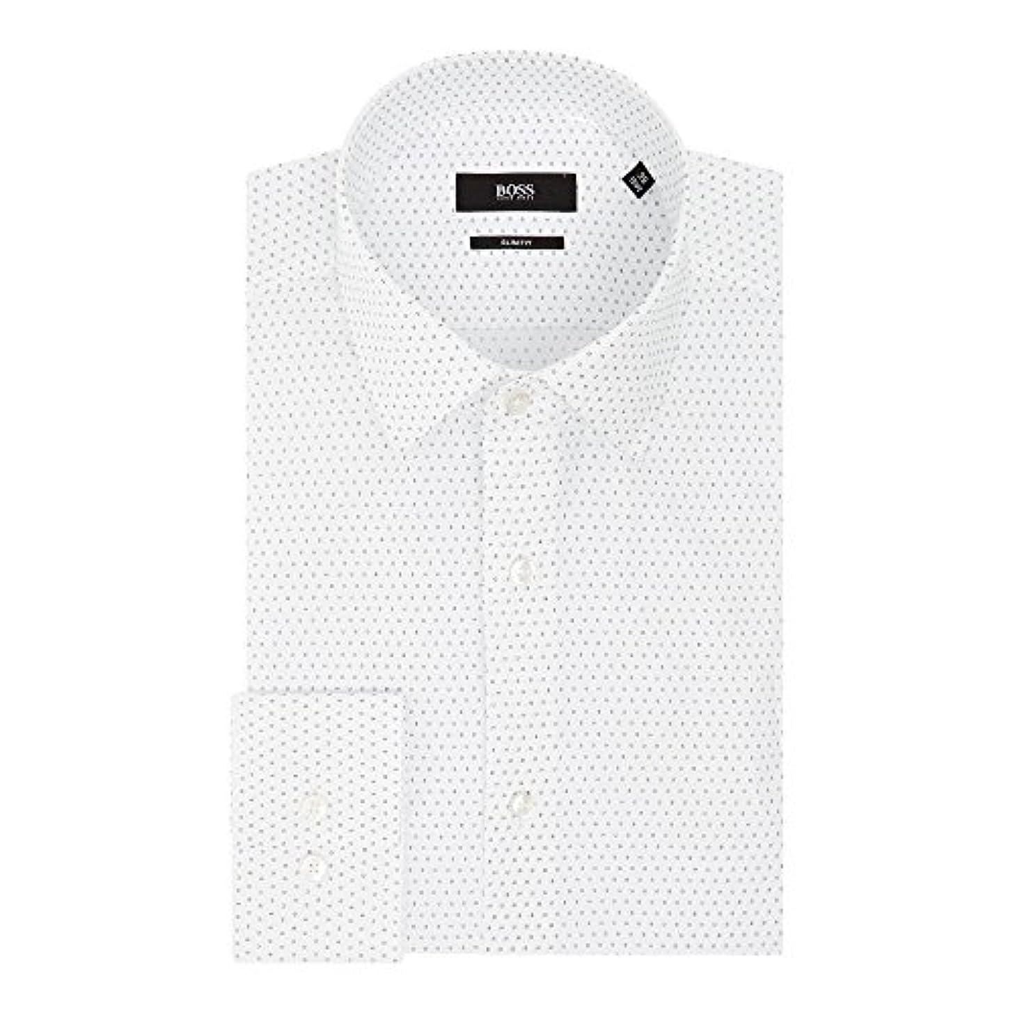 課す優しさどんなときも(ヒューゴ ボス) Hugo Boss メンズ トップス シャツ Jenno Slim Fit Micro Print Shirt [並行輸入品]