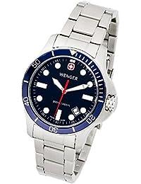 f89354aa96 (ウエンガー) Wenger メンズ 腕時計200mBattalionDiver ...