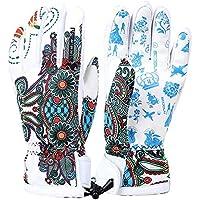 スキーグローブ スノーボード手袋 おしゃれ ポリエステル ベルベット 防水 防雪 防寒 防風 保温 滑り止め付 登山 バイク スキー 男女兼用