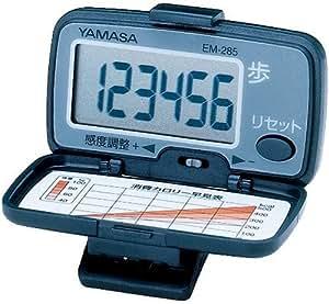 山佐(YAMASA) 万歩計 デジ・ウォーカーBIG ブラック EM-285B