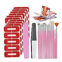CUTICATE 50個再利用可能なソフトプラスチックネイルポリッシュステンシル、サロン&ホーム用マニキュアキット - 橙色