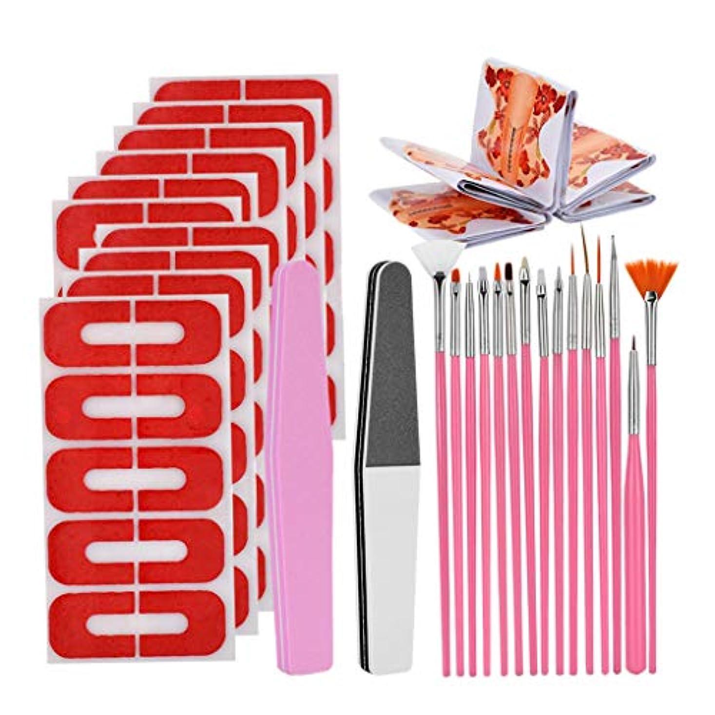 オーク息苦しいメーターCUTICATE 50個再利用可能なソフトプラスチックネイルポリッシュステンシル、サロン&ホーム用マニキュアキット - 橙色