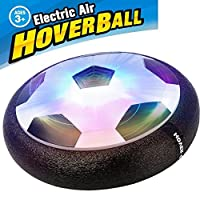 AIFONE Kids Air Power Soccer Disc, Training Football with Foam Bumpers and LED Lights, Hover Disc Ball for Indoor and Outdoor