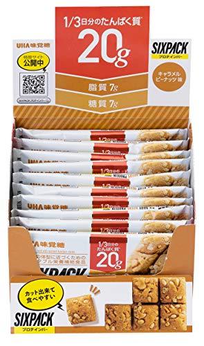 【まとめ買い】UHA味覚糖 SIXPACK プロテインバー キャラメルピーナッツ味 40g×10本