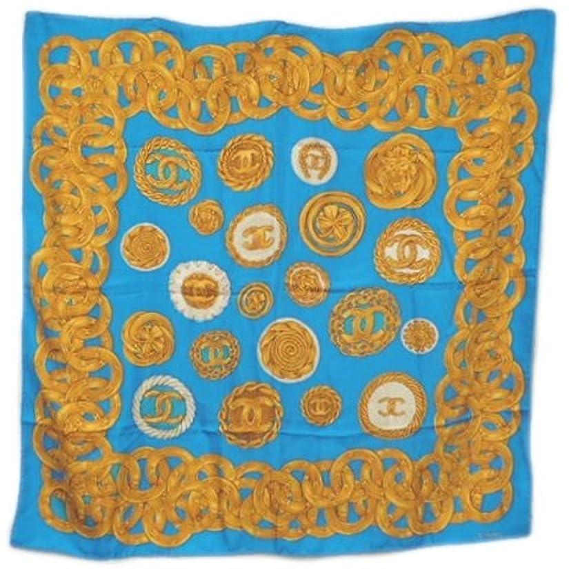 ブリーフケース進捗すぐにCHANEL(シャネル) ココストール 衣類 スカーフ シルク ブルー イエロー 水色 青 黄 ★ 18040296【中古】【アラモード】