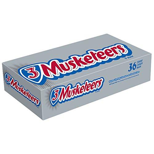 3 銃士チョコレート シングル サイズ キャンディーバー 1.92 オンス バー 36 カウント ボックス 3 MUSKETEERS Chocolate Singles Size Candy Bars 1.92-Ounce Bar 36-Count Box